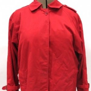 BURBERRY DOUBLE BREASTED TRENCH COAT (RED)